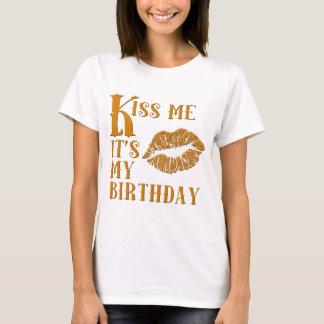 Kiss Me It's My Birthday Sparkly T-Shirt