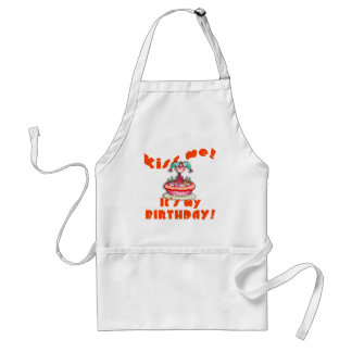 Kiss Me It's My Birthday with Clown Adult Apron