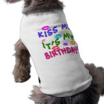 Kiss Me It's My Birthday with Colorful Kisses Tee