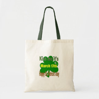 kiss me it's St. Patricks day Tote Bag