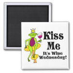 Kiss Me!  It's Wine Wednesday! Wine Prince Refrigerator Magnets