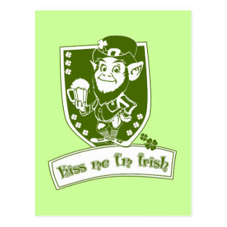 Kiss Me Leprechaun Postcard