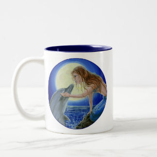 Kiss Me Mermaid & Dolphin Fantasy mug