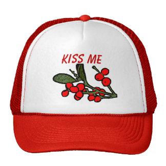 Kiss Me Mistletoe Hat