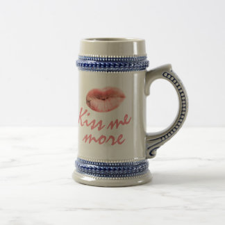 Kiss me more customizable beer stein