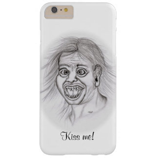 Kiss ME! - Pencil drawing black and white Design Barely There iPhone 6 Plus Case