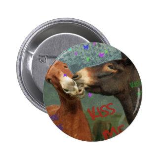 Kiss Me! Pinback Button