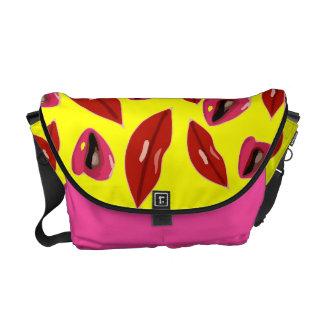Kiss Me Pop Art Rickshaw messenger Bag