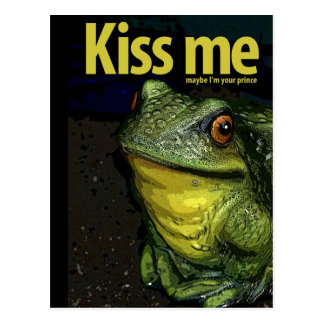 KISS ME POST CARD