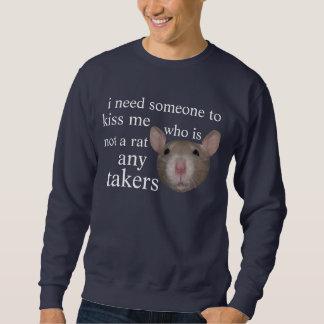 kiss me pullover sweatshirt