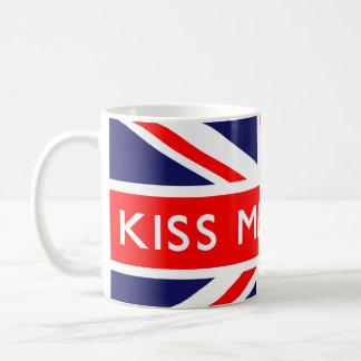 Kiss Me Quick on British Flag Coffee Mug