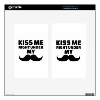 Kiss me right under my mustache skin for kindle fire