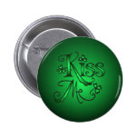 KISS ME SHAMROCKS by SHARON SHARPE 2 Inch Round Button
