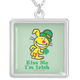 Kiss Me Silver Plated Necklace