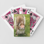 Kiss Me Squirrel Playing Cards