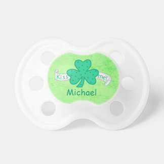 Kiss Me St. Patrick's Day Personalized Name Pacifier