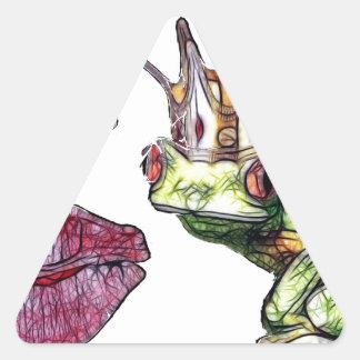 Kiss Me Triangle Stickers