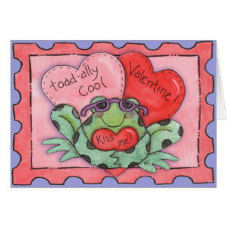 Kiss Me Toad - Greeting Card