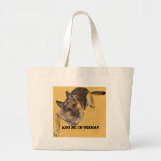 Kiss me tote bags