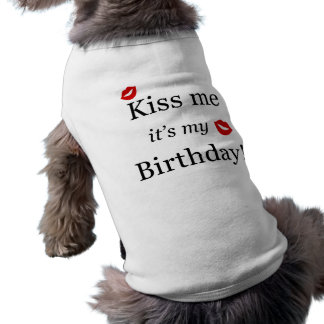 Kiss Me Tshirt Dog T-shirt