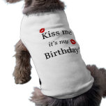 Kiss Me Tshirt Pet Shirt