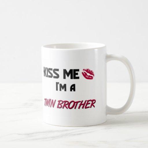 Kiss Me Twin Brother Classic White Coffee Mug