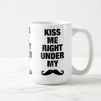 Kiss me Under My Mustache Mugs