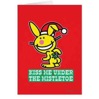 Kiss Me Under The Mistletoe Greeting Card