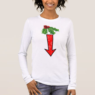 Kiss Me Under The Mistletoe Long Sleeve T-Shirt