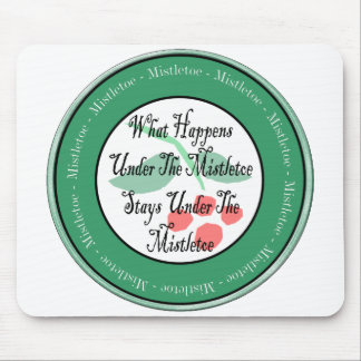 KIss Me Under The Mistletoe Mouse Pad