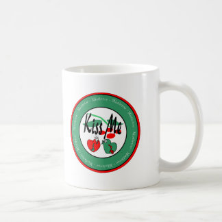 KIss Me Under The Mistletoe Classic White Coffee Mug