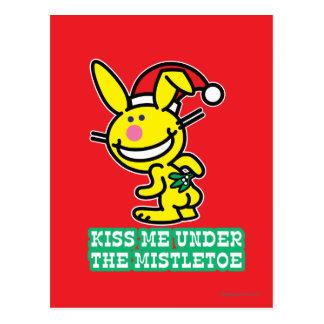 Kiss Me Under The Mistletoe Postcard