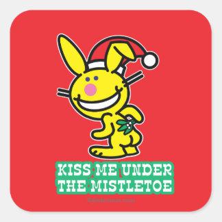 Kiss Me Under The Mistletoe Square Sticker