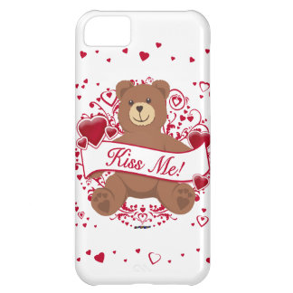 Kiss Me! Valentine's Day Teddy Bear iPhone 5C Covers