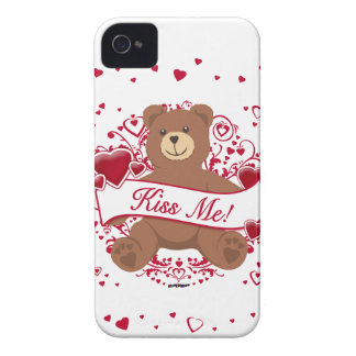Kiss Me! Valentine's Day Teddy Bear Case-Mate iPhone 4 Case