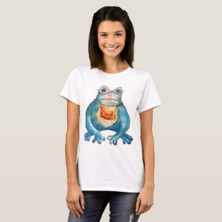 """""""Kiss me"""" with frog, funny design T-Shirt"""