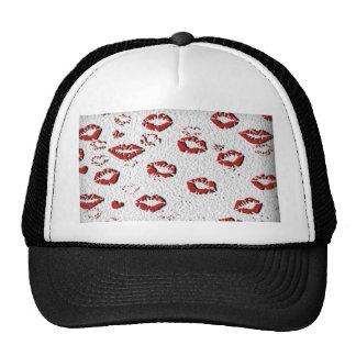 kiss me you fool lips hat