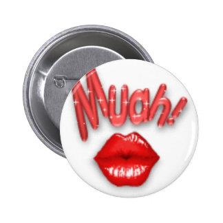Kiss, muah 2 inch round button