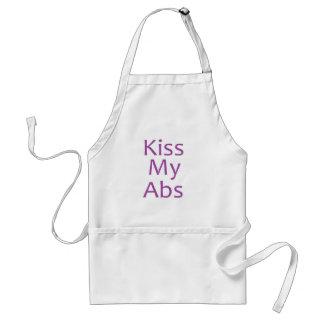 Kiss My Abs- Purple Adult Apron