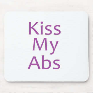 Kiss My Abs- Purple Mouse Pad