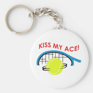 KISS MY ACE BASIC ROUND BUTTON KEYCHAIN