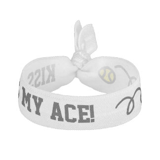 KISS MY ACE funny tennis quote hair ties