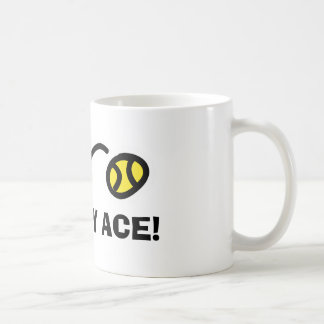 KISS MY ACE funy tennis mugs for coach and player