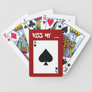 Kiss my Ace Playing Cards