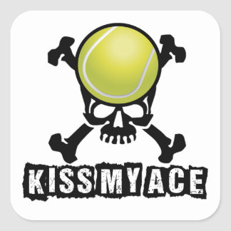 Kiss My Ace Square Sticker