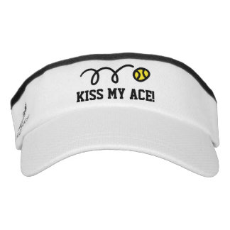 KISS MY ACE sun visor cap for tennis player coach