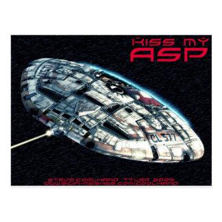 Kiss my  Asp Postcard