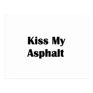 Kiss My Asphalt black Postcard