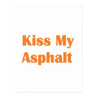 Kiss My Asphalt- Orange Postcard