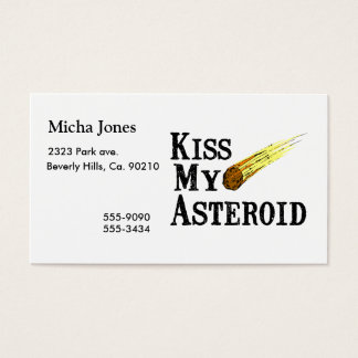 Kiss My Asteroid Business Card